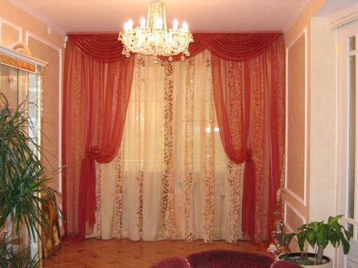 Красивые шторы из органзы фото