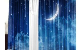 Ночные шторы в комнату для гостей