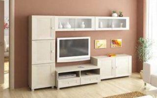 Маленькие стенки для гостиной комнаты — выбираем сами