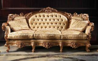 Классические диваны для гостиной — обзор