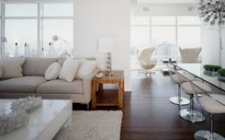 Гостиная в белых тонах — дизайн интерьера и цвет