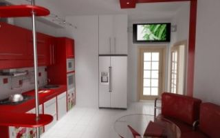 Дизайн кухни-гостиной 13 метров