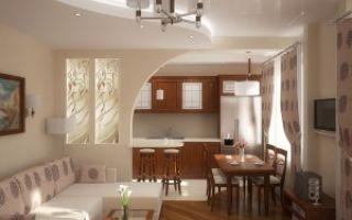Оформление кухни и гостиной в одной комнате