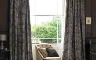 Плотные шторы для гостиной комнаты
