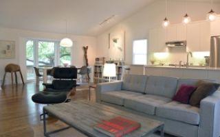 Диван серого цвета для гостиной — дизайн интерьера