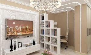 Дизайн рабочей зоны в гостиной