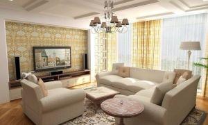 Гостиная в светлых тонах — фото дизайна интерьера