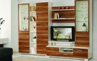 Стенки в гостиную модерн — мебель и стиль