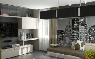 Дизайн интерьера гостиной-студии