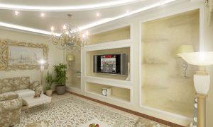 Современная классика в гостиной — красивый дизайн