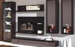 Современные стенки для гостиной — подробный обзор