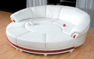 Круглые и полукруглые диваны в комнату для гостей