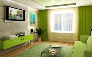 Подойдет ли зеленый диван для интерьера гостиной?