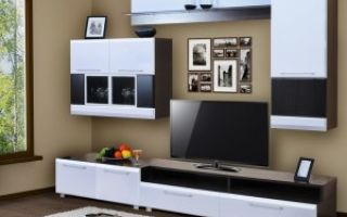 Черно-белая мебель в гостиной — выбираем с умом!