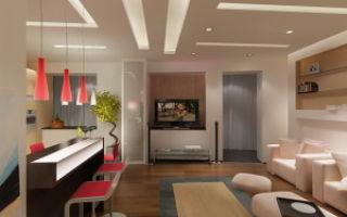 Дизайн интерьера кухни-гостиной 18 метров