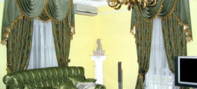 Элитные шторы в гостиной — все нюансы интерьера