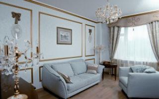 Молдинги в гостиной — советы мастеров