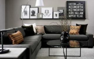 Черная мебель в гостиной — советы дизайнеров