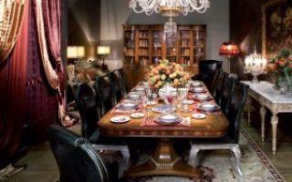 Выбираем стол со стульями в гостиную комнату