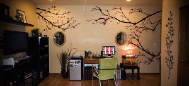 Декорирование стен в гостиной своими руками