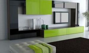 Дизайн стенки в комнате для гостей