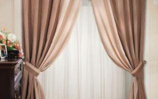 Двойные шторы в гостиную — украшаем комнату своими руками