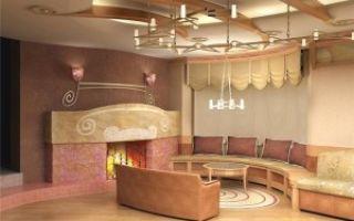 Дизайн гостиной с камином — декорируем комнату