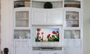 Белая стенка в гостиную — правила отличного интерьера