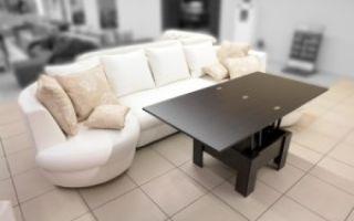 Складные и раскладные столы для гостиной комнаты