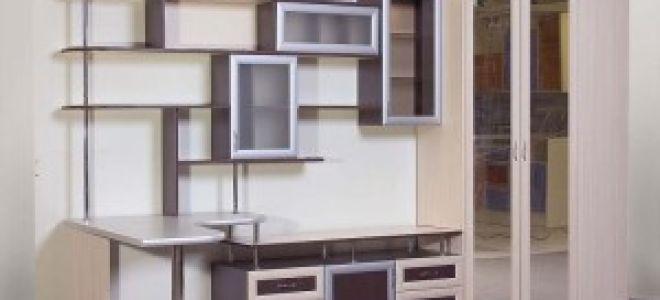 Стенка-горка в гостиную комнату для посуды