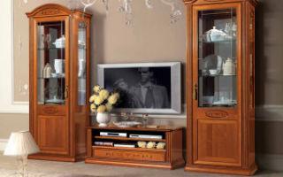 Деревянная мебель для гостиной — детали интерьера