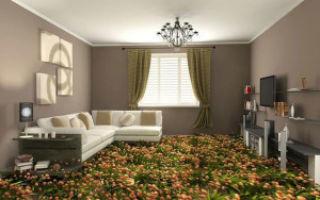 Дизайн пола в комнате для гостей