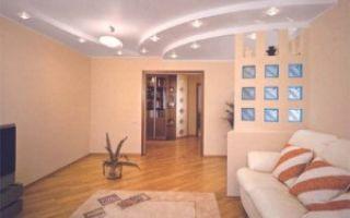 Стоит ли делать потолок из гипсокартона в гостиной?