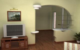 Стены из гипсокартона в интерьере гостиной