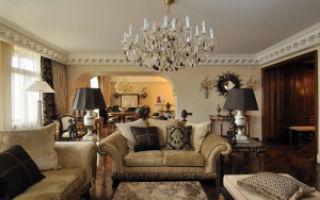 Классические люстры для гостиной