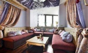 Интерьер гостиной в восточном стиле — обзор дизайна