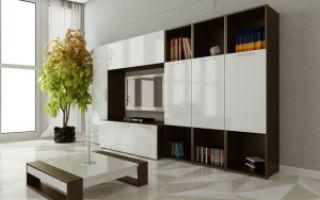 Глянцевая мебель в гостиную комнату