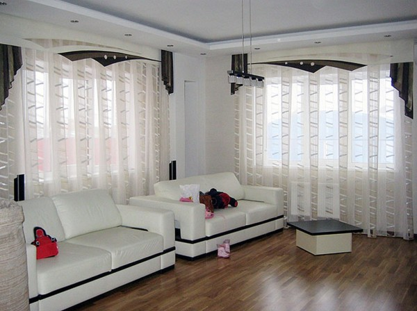 красивые шторы для гостиной