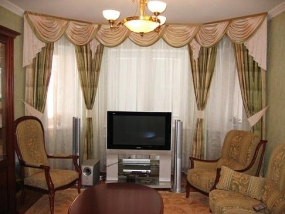 Красивые шторы для гостиной — фото