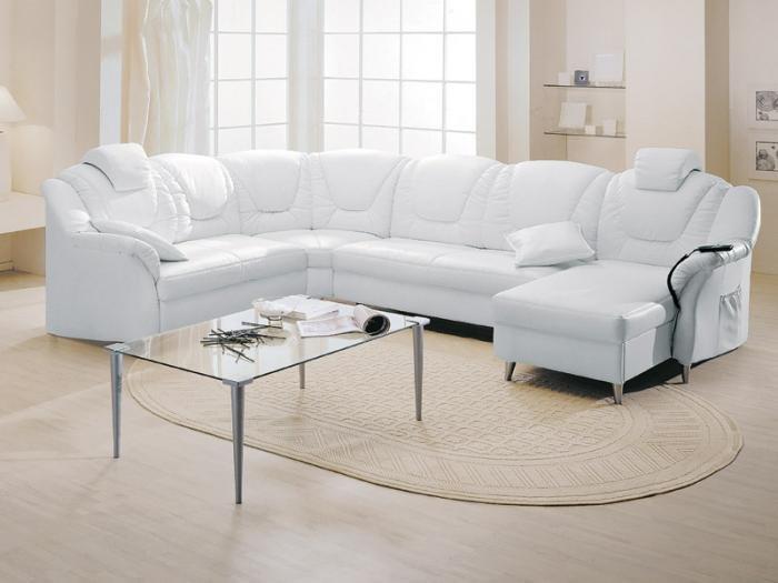 Белая мебель в гостиную - тонкости выбора