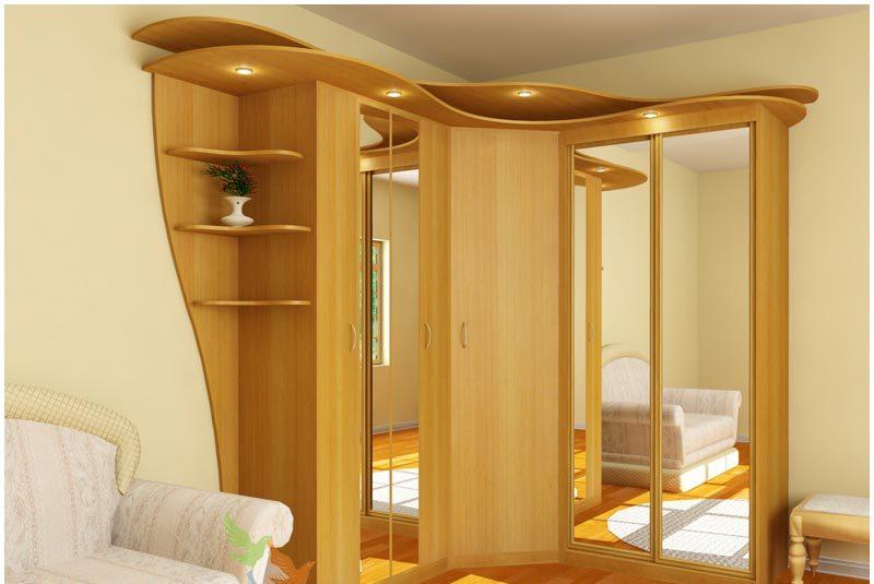 Угловые шкафы для гостиной - все нюансы правильного выбора