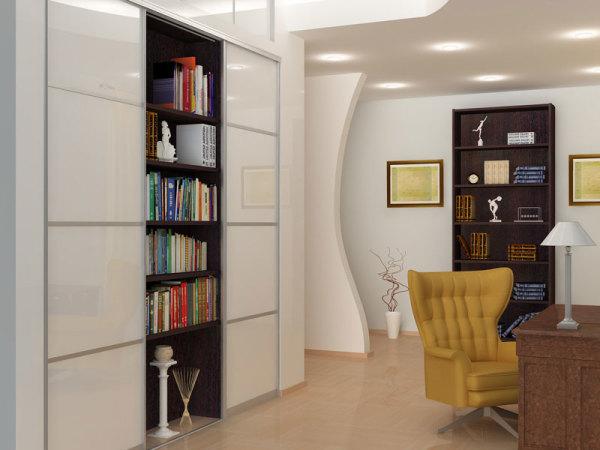 встроенный шкаф в гостиной