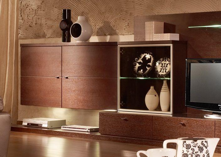 Навесные настенные шкафы для гостиной — обзор