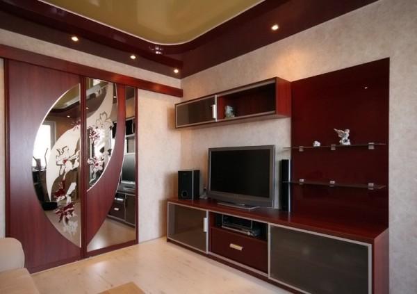 красивая стенка для гостиной