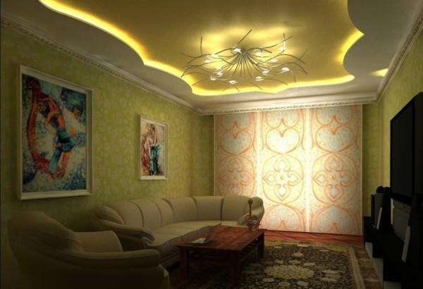 интерьер в маленькой гостиной