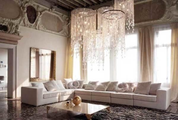 модная потолочная люстра для гостиной