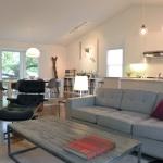 Диван серого цвета для гостиной - дизайн интерьера