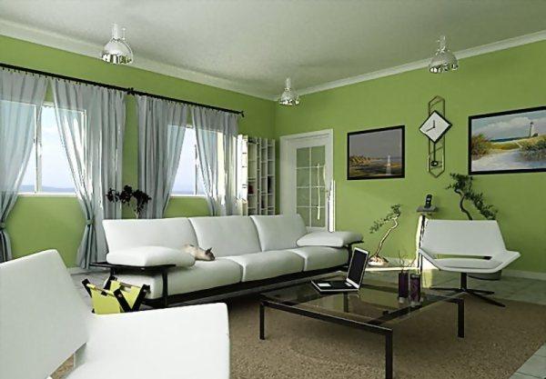 зеленая комната для гостей