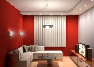 Красная гостиная — фото и все тонкости интерьера