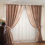 Двойные шторы в гостиную - украшаем комнату своими руками